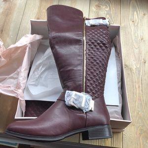 Maroon/ burgundy tall boots